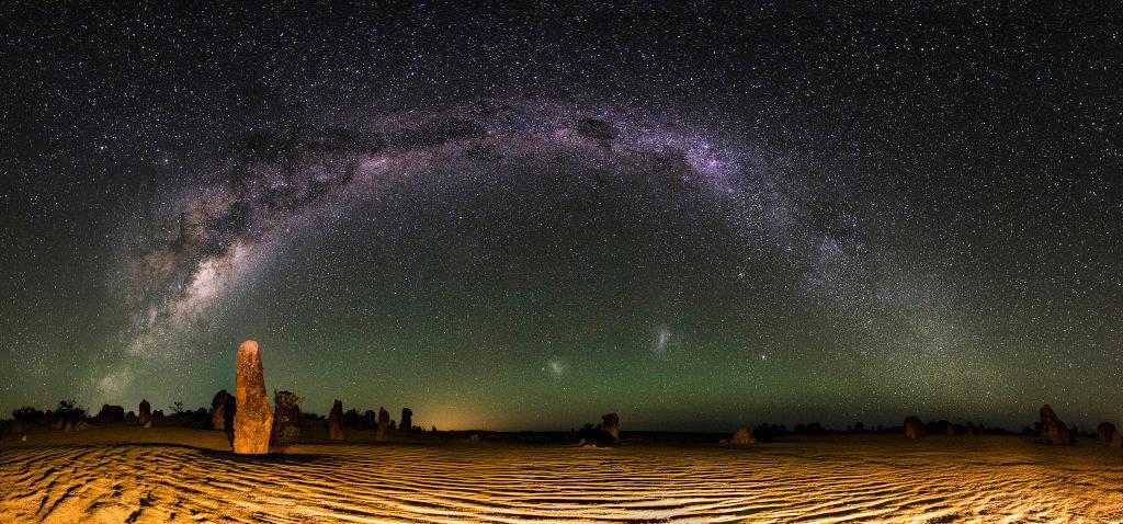 Desert étoiles nuit